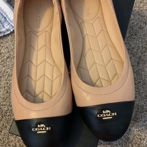 Coach flats. Never worn in box. Size 8.